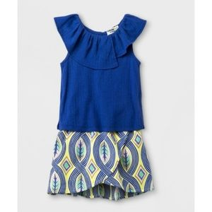 Genuine Kids Ruffle African Skirt Set